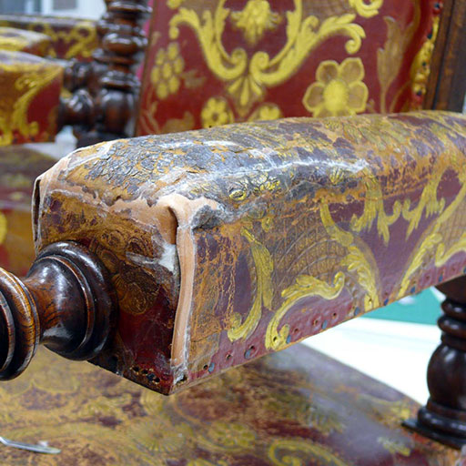 Photo fauteuil cuir cordoue