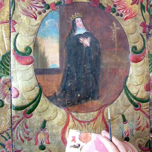 Photo retouche décor cuir cordoue