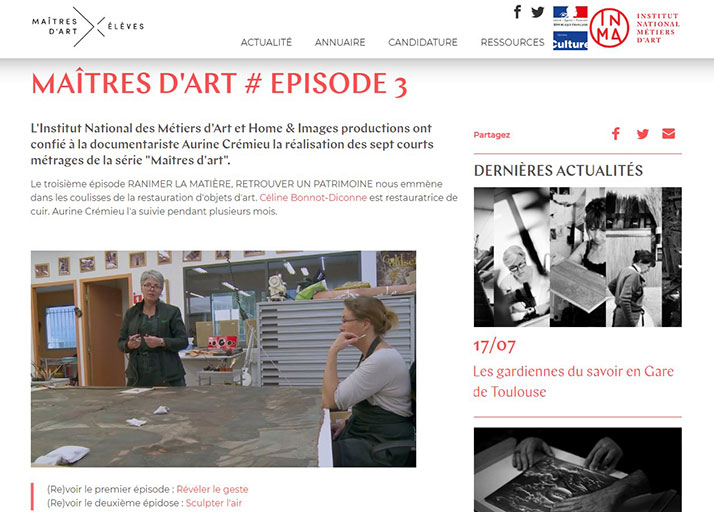 Photo 1 Video on the site www.maitredart.fr: MASTERS OF ART # EPISODE 3